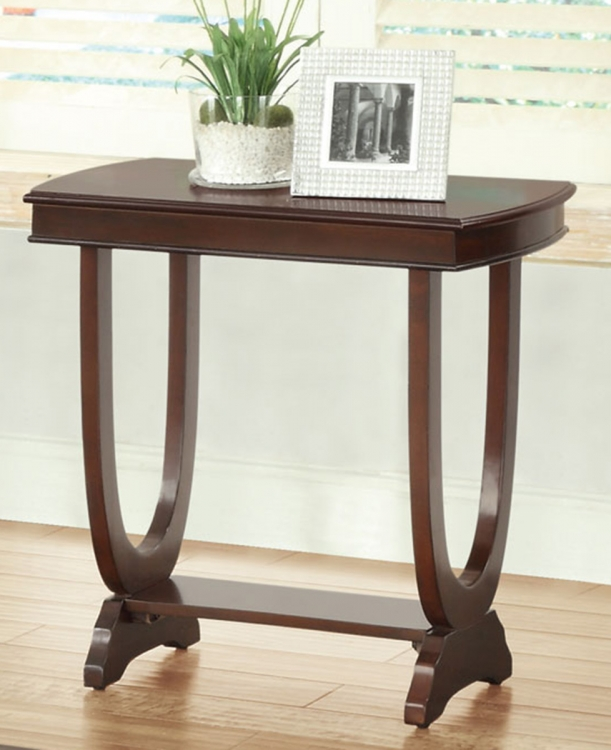 702816 Chairside Table - Cappuccino