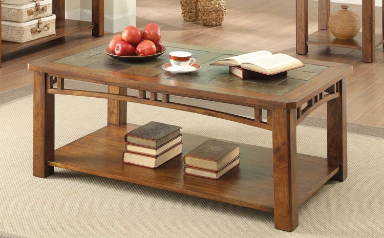 703328 Coffee Table - Warm Brown