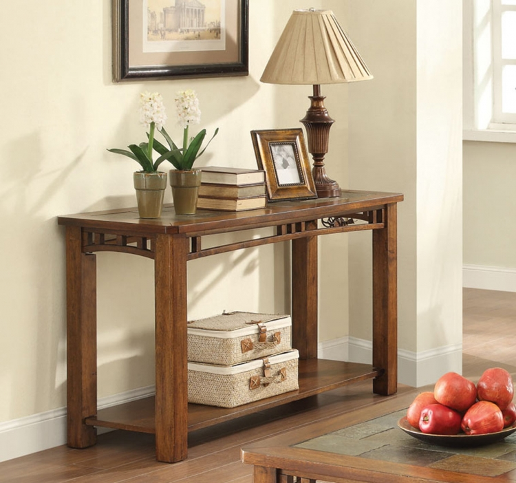 703329 Sofa Table - Warm Brown