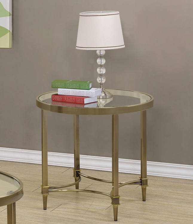 703507 End Table - Oil Rubbed Brass