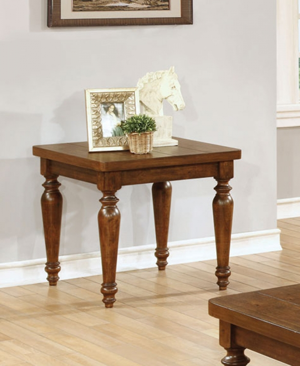 703577 End Table - Rustic Brown
