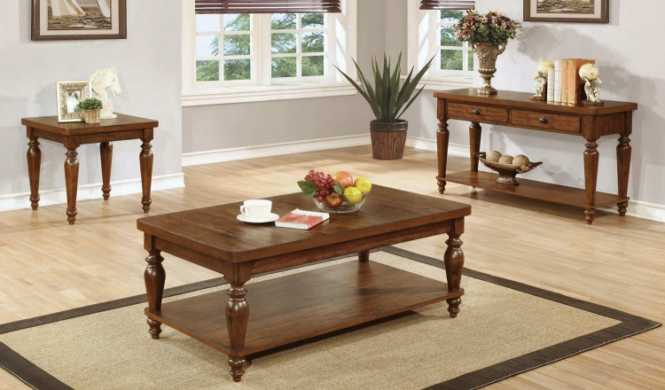 703579 Coffee Table Collection - Rustic Brown