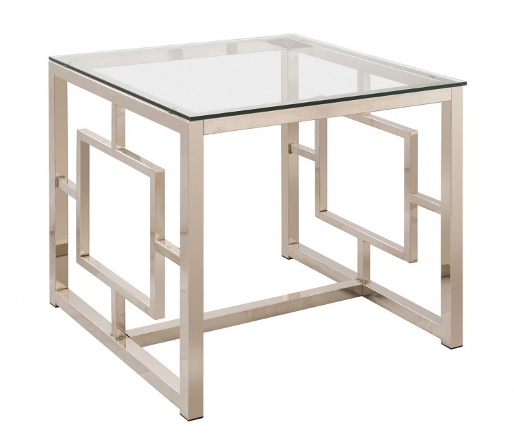 703737 End Table - Nickel