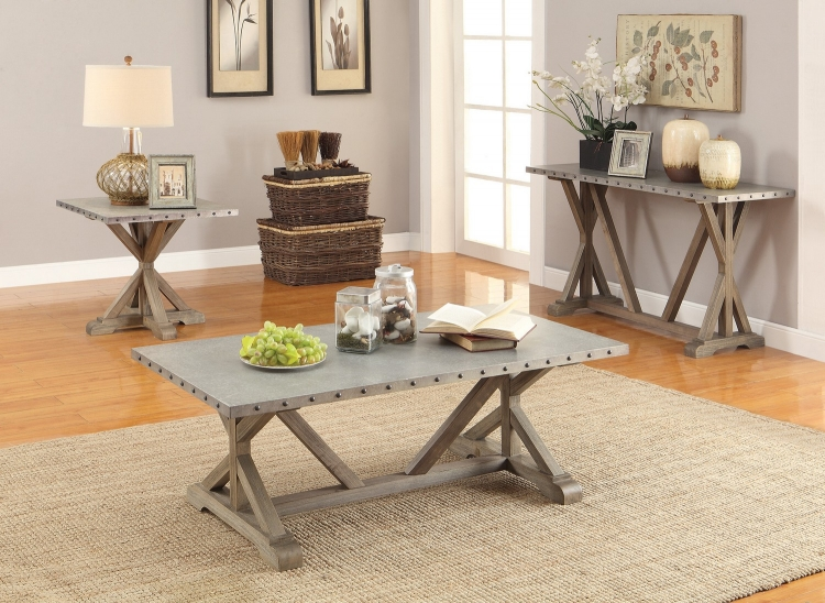 703748 Coffee/Cocktail Table Set - Driftwood