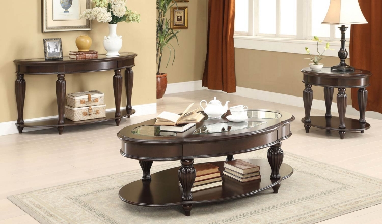 703849 Coffee Table Collection - Dark Merlot