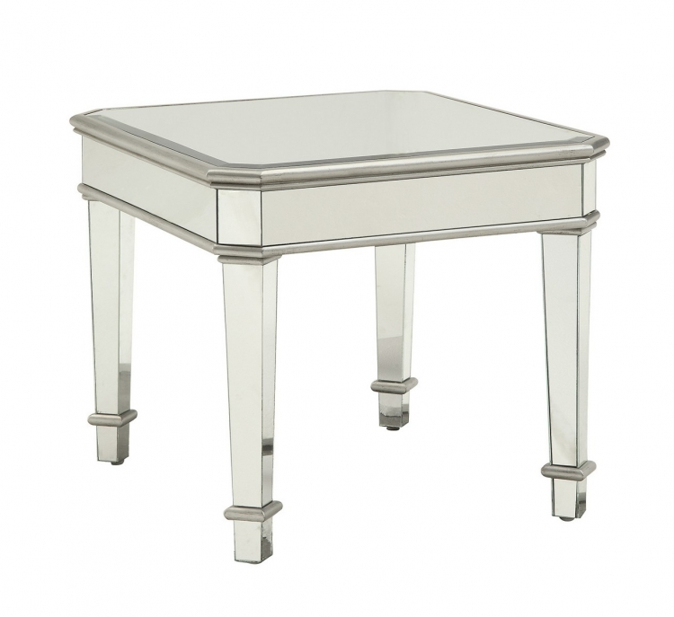 703937 End Table - Silver
