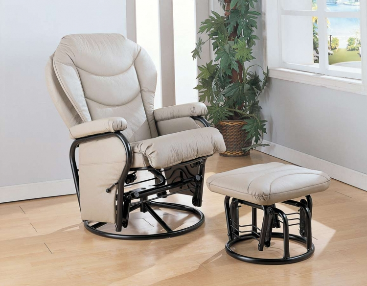 7040 Glider Rocker with Ottoman
