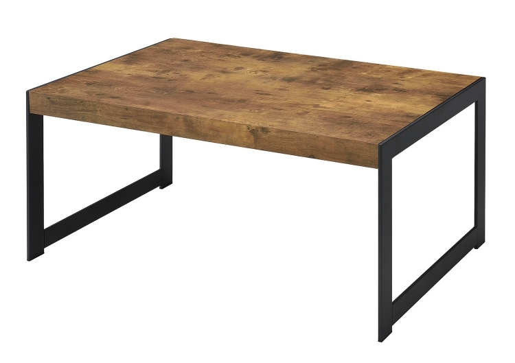 704028 Coffee/Cocktail Table - Antique Nutmeg/gunmetal