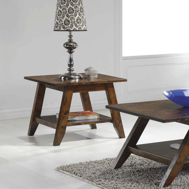 704038 End Table - Rustic Pecan