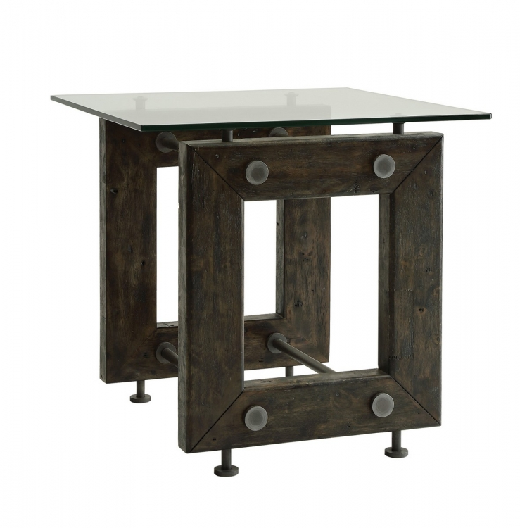 704277 End Table - Brown/black