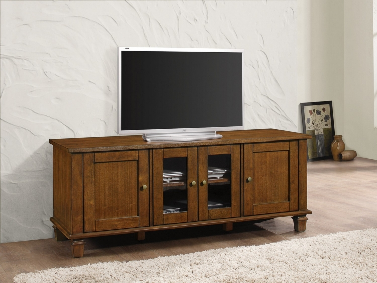 704401 TV Console - Warm Brown