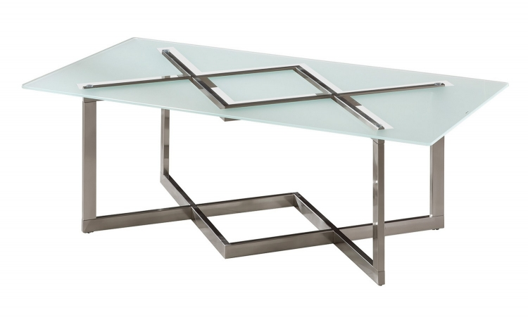 704438 Coffee/Cocktail Table - Brushed Nickel