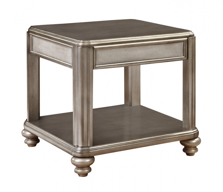 704617 End Table - Metallic Platinum