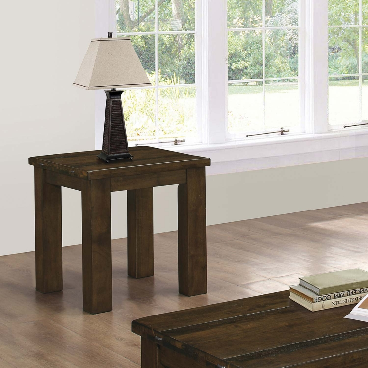 704748 End Table - Rustic Pecan