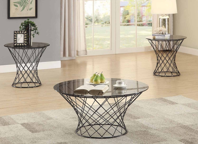 705138 Occasional/Coffee Table Set - Black