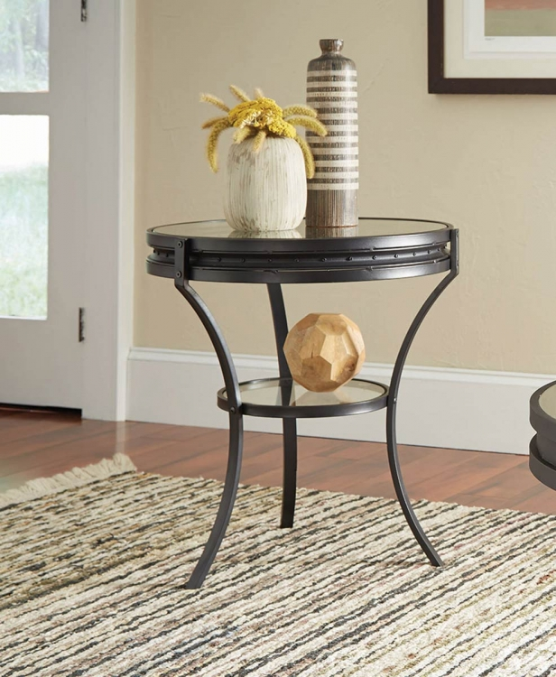 705217 End Table - Sandy Black