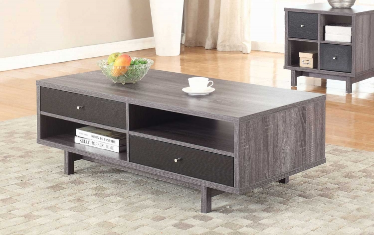 705388 Coffee Table - Antique Grey/Black