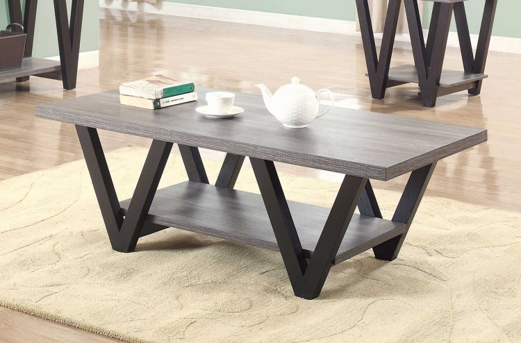 705398 Coffee Table - Antique Grey/Black
