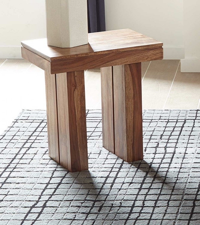 705847 End Table - Natural Sheesham