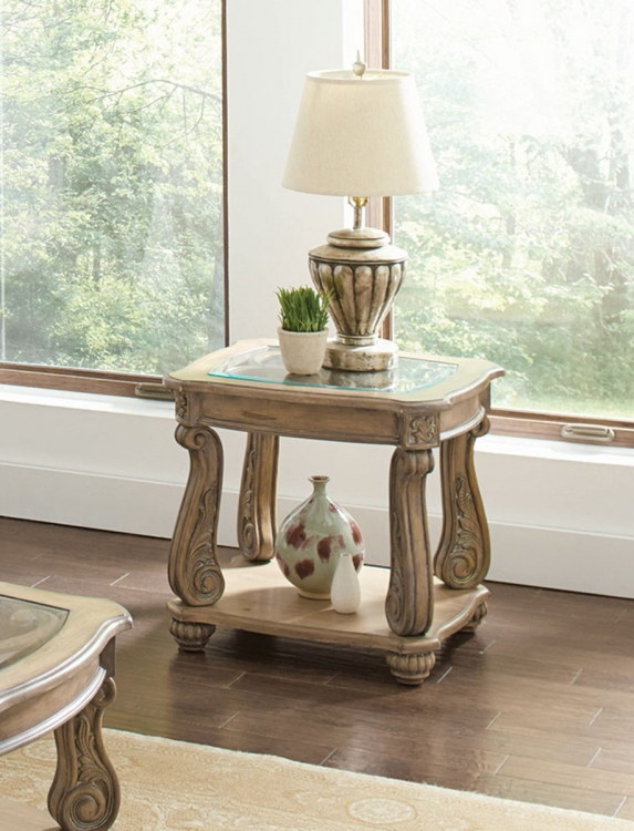 720597 End Table - Antique Linen