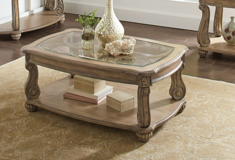 720598 Coffee Table - Antique Linen