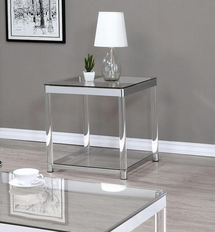 720747 End Table - Chrome/Clear Acrylic