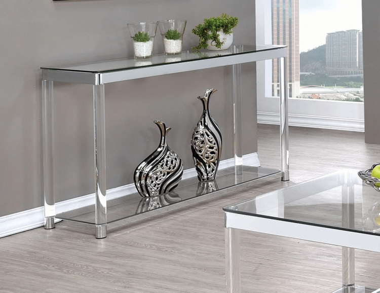 720748 Coffee Table - Chrome/Clear Acrylic