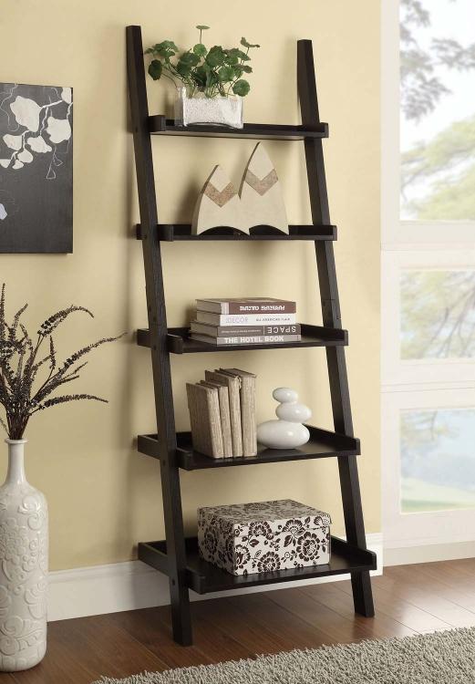 Colella Ladder Bookcase - Cappuccino