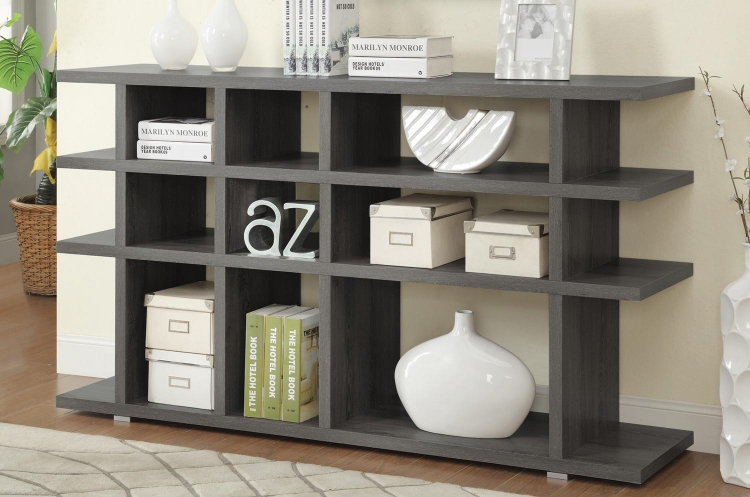 800359 Bookcase - Weathered Grey