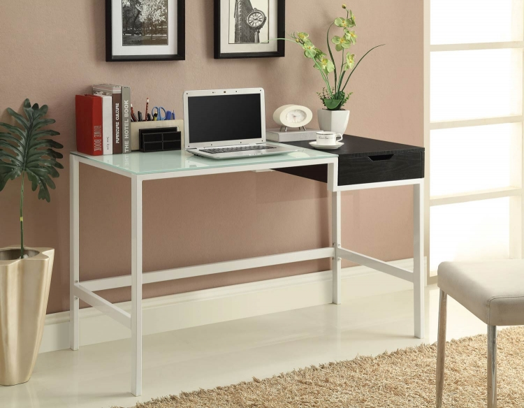 800405 Desk - White/Black