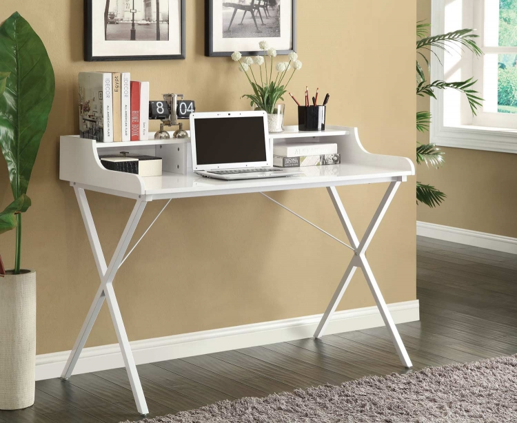 800407 Desk - High Gloss White