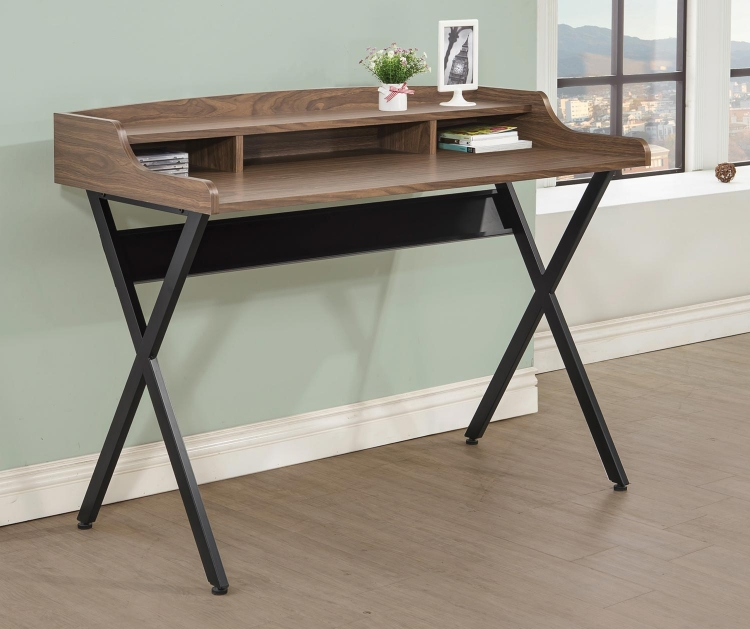 800415 Writing Desk - Light Brown/Black