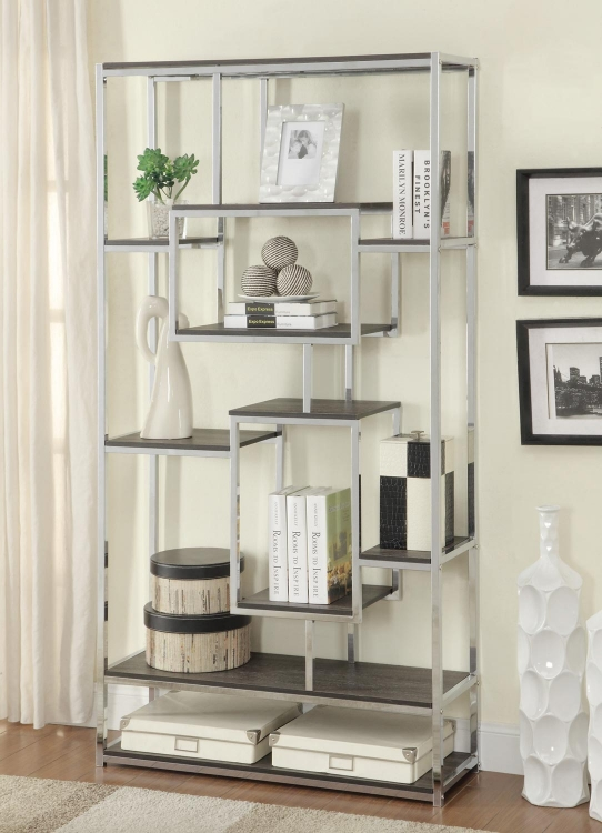800459 Bookcase - Grey
