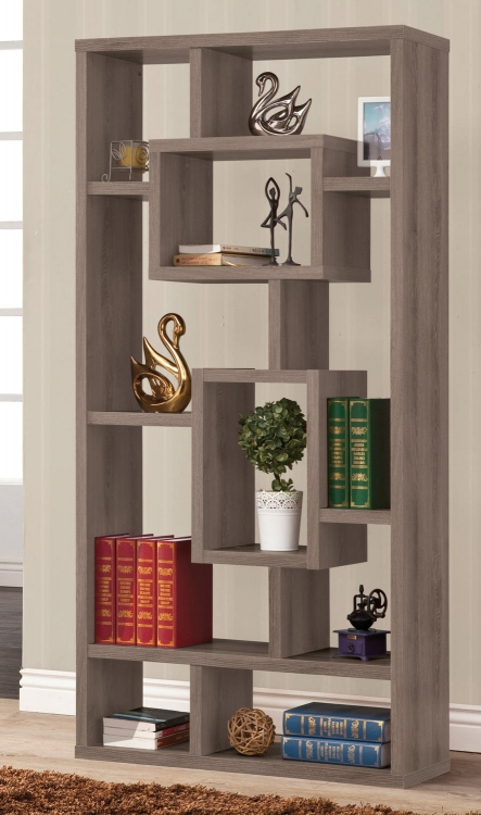 800512 Bookcase - Weathered Grey