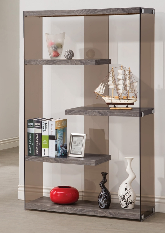 800525 Bookcase - Weathered Grey
