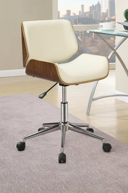 800613 Office Chair - Ecru Leatherette