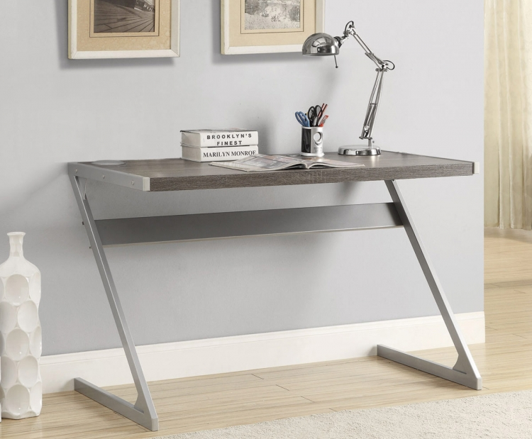 800826 Bluetooth Desk - Weathered Grey/Silver