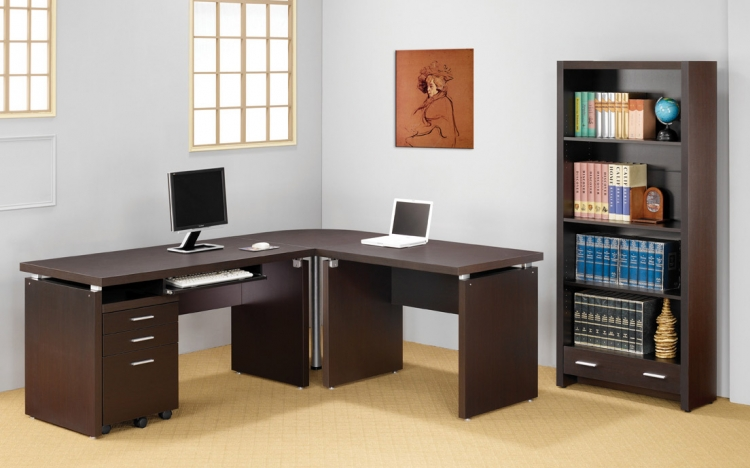800891 Corner Desk Office Set - Coaster