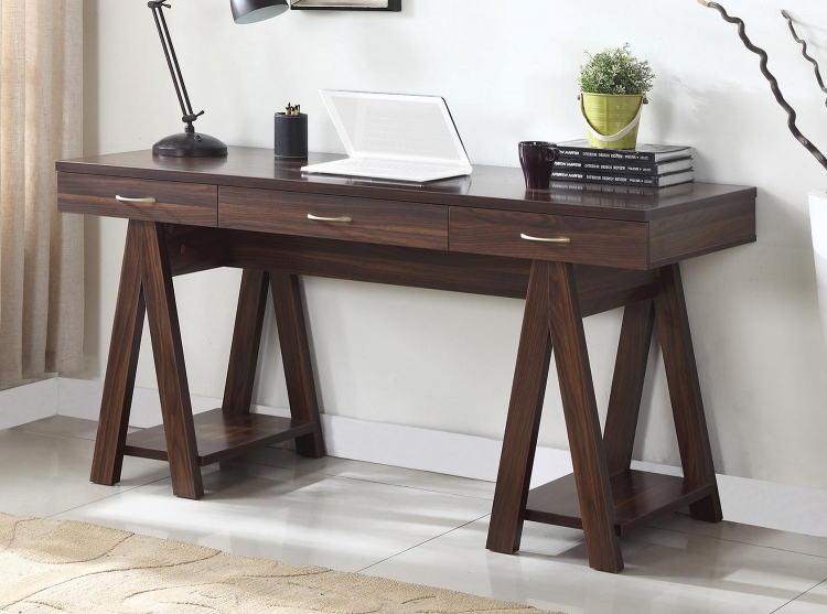 800910 Writing Desk - Dark Walnut