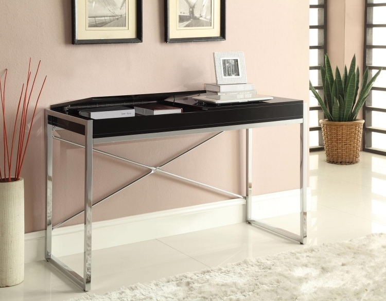 Morris Desk - Black/Chrome