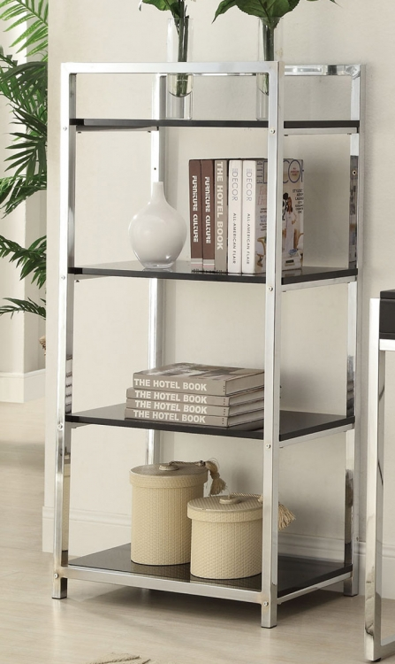 Morris Bookcase - Black/Chrome