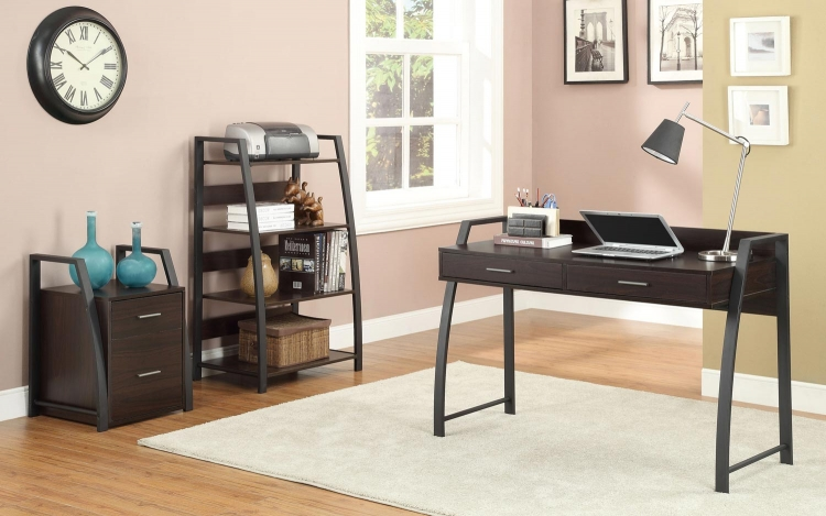 Office Home Office Set - Deep Coffee/Black