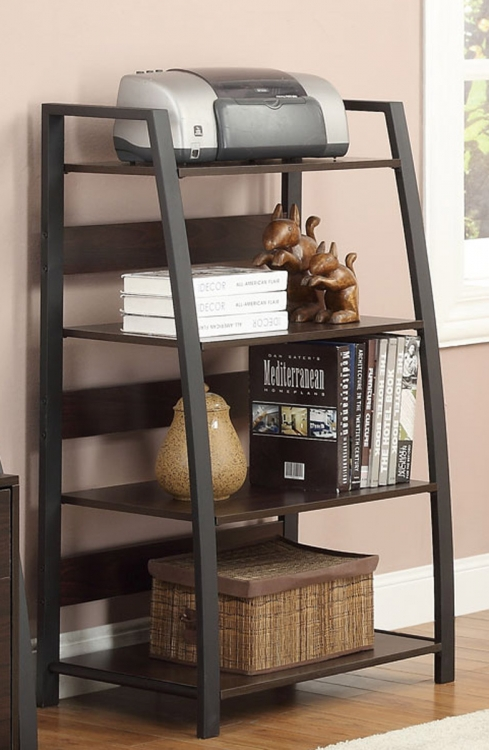 Office Bookcase - Deep Coffee/Black