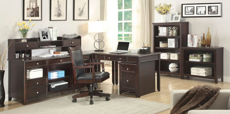 Maclay Home Office Collection - Dark Brown/Silver