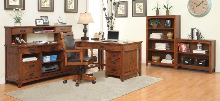 Maclay Home Office Collection - Red Brown/Black