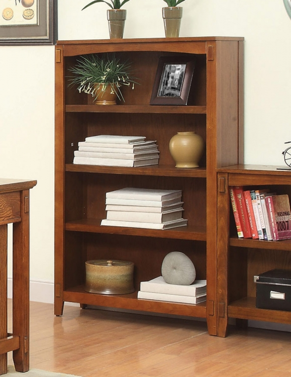 Maclay Bookcase - Red Brown/Black