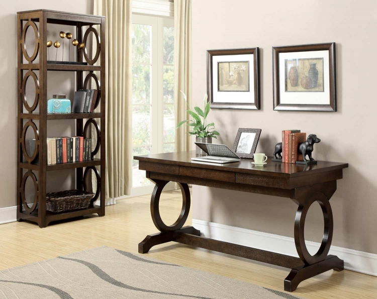 Enedina Home Office Set - Chestnut