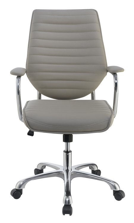 801328 Office Chair - Taupe/Aluminum