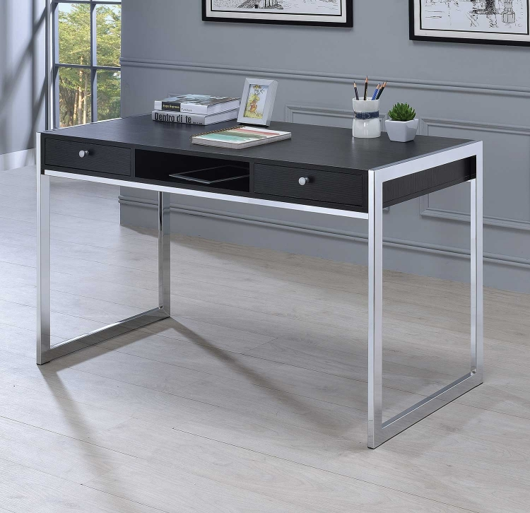 801352 Writing Desk - Dark Grey