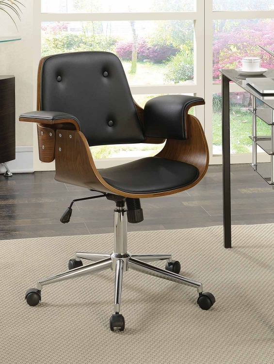 801427 Office Chair - Black/Walnut